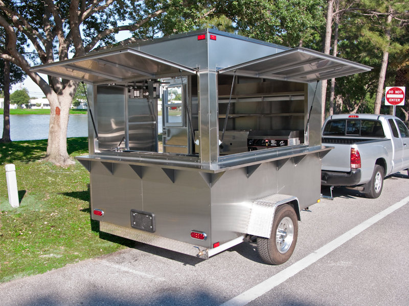 Mobile kitchen trailers